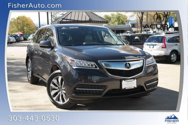 Certified PreOwned Acura MDX SHAWD Dr WTechEntertainment - Acura mdx pre owned