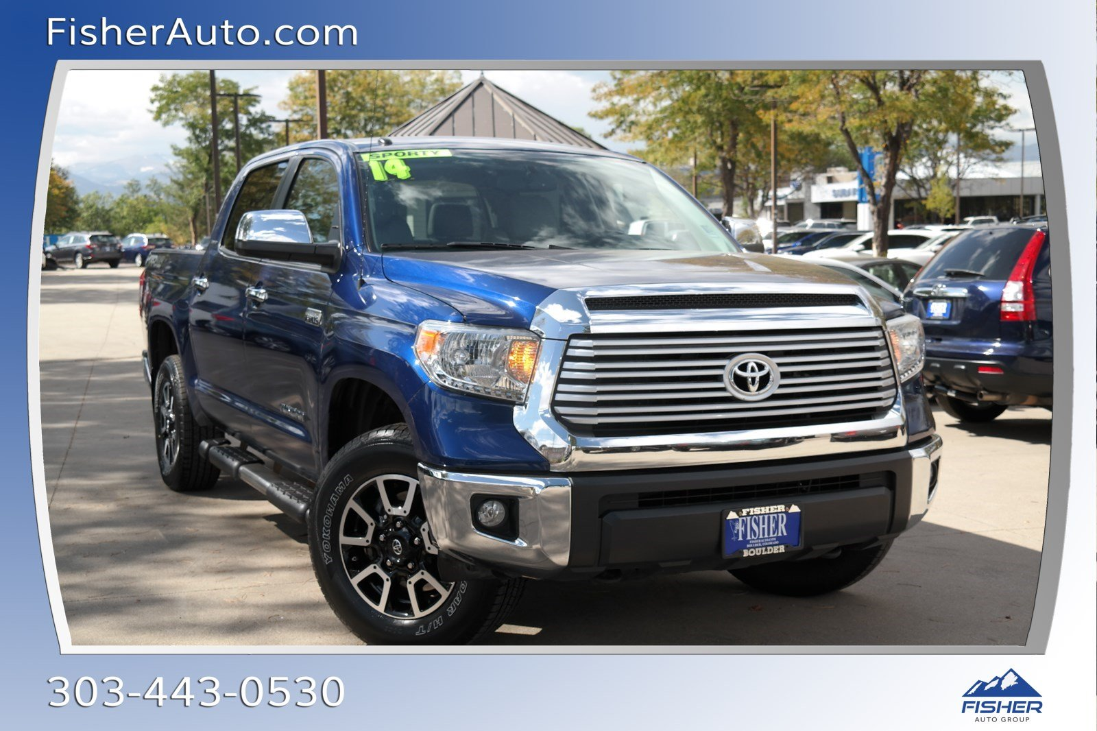 Pre-Owned 2014 Toyota Tundra 4WD CrewMax 5.7L FFV V8 6-Spd AT LTD