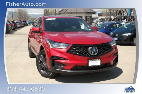 Certified Pre-Owned 2019 Acura RDX AWD w/A-Spec Pkg